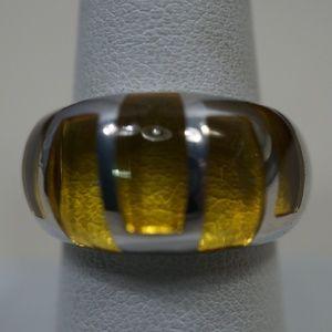Sterling Silver .925 & Resin Design Ring